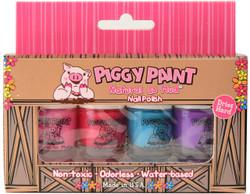 Piggy Paint for Kids 4 pc Mini Polish Set