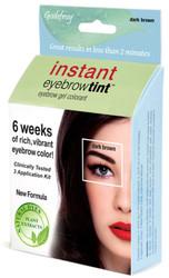 Godefroy Dark Brown Instant Eyebrow Tint Kit