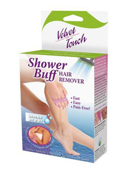 Velvet Touch Shower Buff Hair Remover