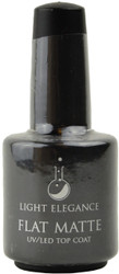 Light Elegance Flat Matte UV / LED Gel Top Coat (0.54 fl. oz. /15 mL)