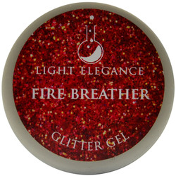 Light Elegance Fire Breather Glitter Gel (UV / LED Gel)