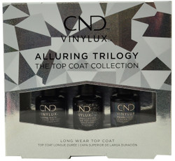 Cnd Vinylux 3 pc Alluring Trilogy Top Coat Mini Set