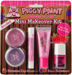 Piggy Paint for Kids 5 pc Mini Makeover Kit w/ Rad Raspberry Scented Nail Polish