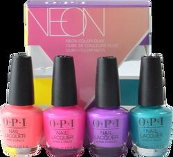 OPI 4 pc Neon 2019 Mini Cube Set