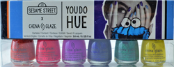 China Glaze  6 pc You Do Hue 2019 Sesame Street Mini