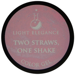 Light Elegance Two Straws, One Shake Color Gel (UV / LED Gel)