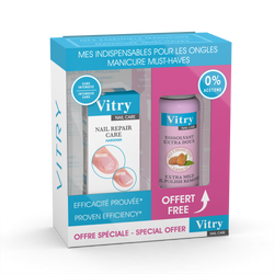 Vitry 2 pc Nail Repair Care & Nail Polish Remover Set