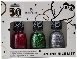 China Glaze 3 pc Sesame Street Holiday 2019 Mini Set