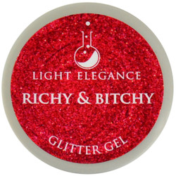 Light Elegance Richy & Bitchy Glitter Gel (UV / LED Gel)