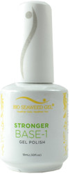 Bio Seaweed Gel Stronger Base-1 Base Coat (UV / LED) (0.5 fl. oz. / 15 mL)