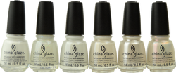 China Glaze 6 pc White Hot Collection