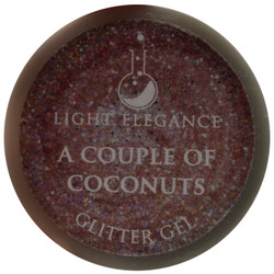 Light Elegance A Couple of Coconuts Glitter Gel (UV / LED Gel)