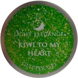 Light Elegance Kiwi to My Heart Glitter Gel (UV / LED Gel)
