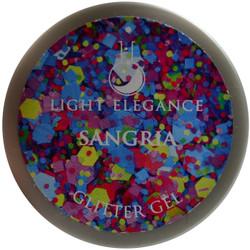 Light Elegance Sangria Glitter Gel (UV / LED Gel)