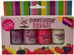Piggy Paint for Kids 4 pc Scented Sweet Treats Polish Mini Set