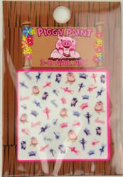 Piggy Paint for Kids Dancing Pig Nail Decal (3-D)