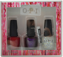 OPI 3 pc Shine Bright Set (w/ Nail Art Glue & Crystals)