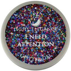 Light Elegance I Need Attention Glitter Gel (UV / LED Gel)