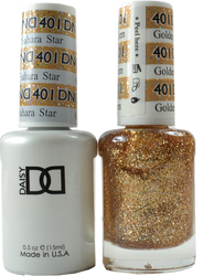 DND Golden Sahara Star Duo (UV / LED Polish & Matching Lacquer)