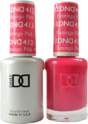 DND Flamingo Pink Duo (UV / LED Polish & Matching Lacquer)