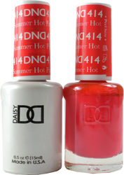 DND Summer Hot Pink Duo (UV / LED Polish & Matching Lacquer)