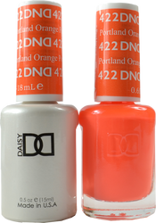 DND Portland Orange Duo (UV / LED Polish & Matching Lacquer)