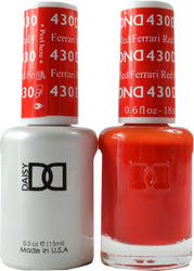 DND Ferrari Red Duo (UV / LED Polish & Matching Lacquer)