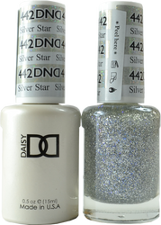 DND Silver Star Duo (UV / LED Polish & Matching Lacquer)