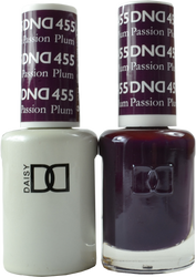 DND Plum Passion Duo (UV / LED Polish & Matching Lacquer)