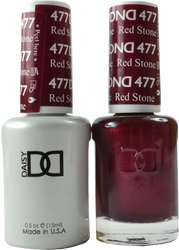 DND Red Stone Duo (UV / LED Polish & Matching Lacquer)