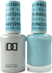 DND Blue River Or Duo (UV / LED Polish & Matching Lacquer)