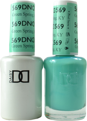 DND Green Spring Duo (UV / LED Polish & Matching Lacquer)