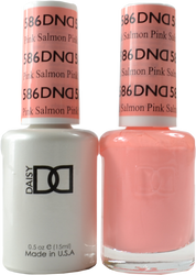 DND Pink Salmon Duo (UV / LED Polish & Matching Lacquer)