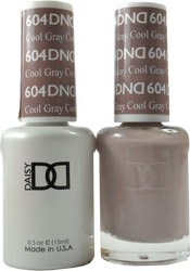 DND Cool Gray Duo (UV / LED Polish & Matching Lacquer)