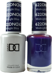 DND Midnight Bleu Duo (UV / LED Polish & Matching Lacquer)