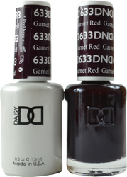 DND Garnet Red Duo (UV / LED Polish & Matching Lacquer)