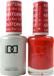 DND Lucky Red Duo (UV / LED Polish & Matching Lacquer)