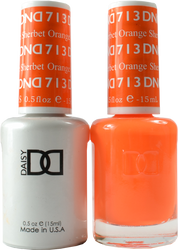 DND Orange Sherbet Duo (UV / LED Polish & Matching Lacquer)