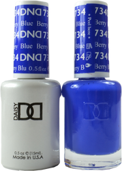 DND Berry Blue Duo (UV / LED Polish & Matching Lacquer)