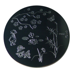 Image Plate #M66 (Trees, Flowers, People) by Konad Nail Art