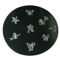 Image Plate #M67 (Butterfly, Bows) by Konad Nail Art