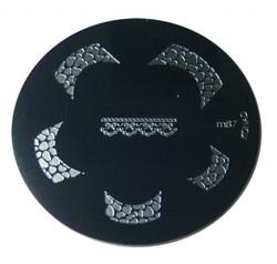 Image Plate M87 (Nail Tips, Lepord Print) by Konad Nail Art