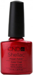 CND Shellac Red Baroness nail polish
