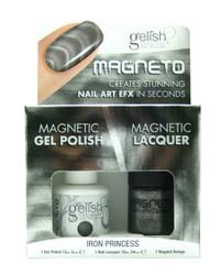 Iron Princess Magnetic Set (Uv Polish, Magnet, & Regular Polish) by Gelish