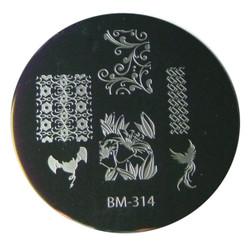 Bundle Monster Image Plate #BM-314: Full Nail, Flowers, Animals, Bird