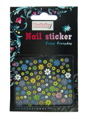 Berkeley Multi-Color Flower #2 3D Nail Decal