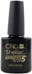 CND Shellac Large UV Top Coat - Xpress 5 (0.5 fl. oz. / 15 mL), Free Shipping at Nail Polish Canada