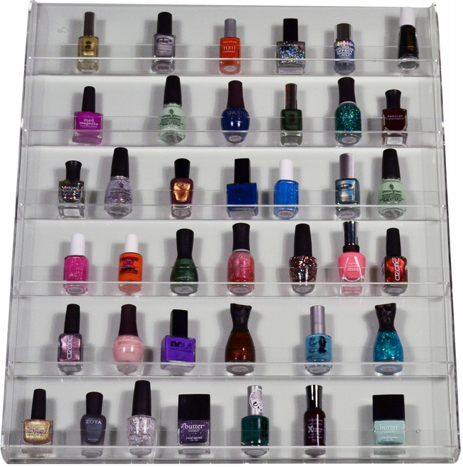 Acrylic Nail Polish Rack (Wall Mount - Holds 90 Pc) by Assorted