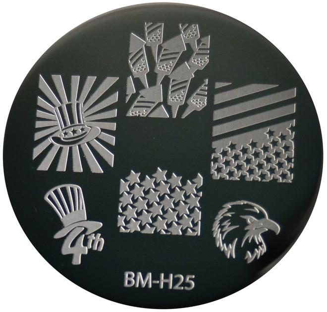 Bundle Monster Image Plate BM-H25: Usa, Animal, 4Th Of July, Full Nail