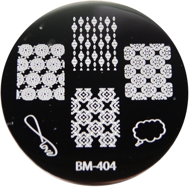 Bundle Monster Image Plate #BM-404: Full Nail, Thought Bubble, Love